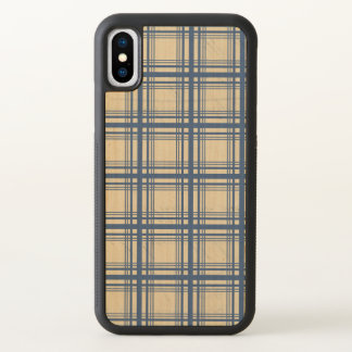 Blue Tartan Plaid Checker iPhone X Case