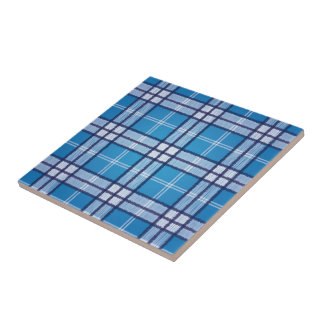 Blue Tartan Tiles