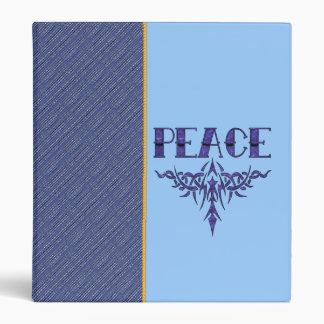 Blue Tattoo Peace Art Binders