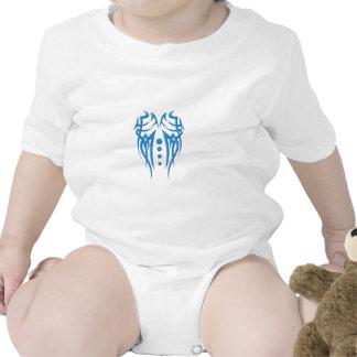 Blue-tattoo-(White ) Baby Bodysuit