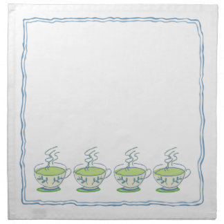 Blue Teacup Tea Set Napkin