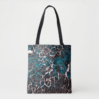 Blue Teal Abstract Pattern Tote Bag