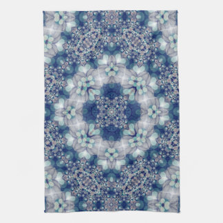 Blue Teal Bohemian Cottage Country Kitchen Towel