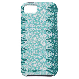 Blue Teal Boho Chic Personalized iPhone 5 Cases