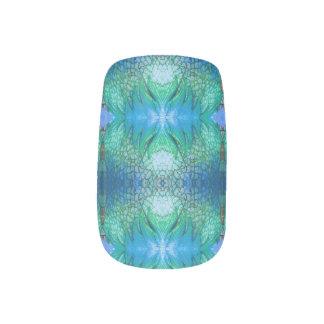 Blue Teal Green Nail Art Decal Wraps