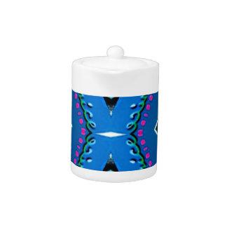 Blue Teal Magenta 'Venice' Tribal Pattern