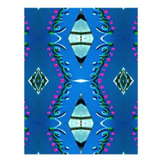 Blue Teal Magenta 'Venice' Tribal Pattern Customized Letterhead