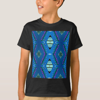Blue Teal Magenta 'Venice' Tribal Pattern T-Shirt