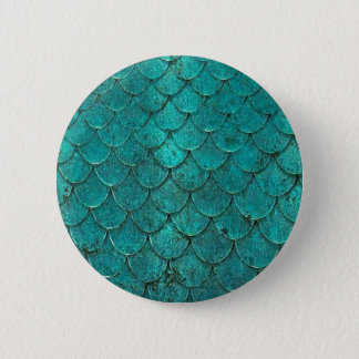 Blue Teal Mermaid Scales 2 Inch Round Button