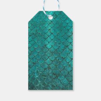 Blue Teal Mermaid Scales Gift Tags