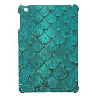 Blue Teal Mermaid Scales iPad Mini Cover