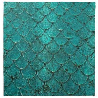 Blue Teal Mermaid Scales Napkin