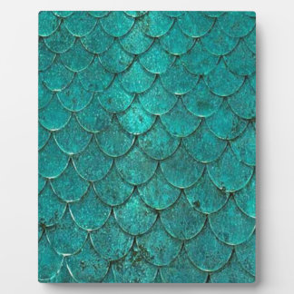 Blue Teal Mermaid Scales Plaque