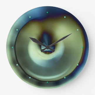 Blue Teal Modern Abstract Design Wall Clock
