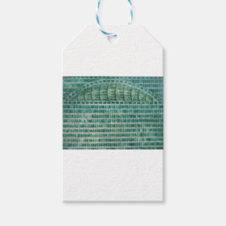 blue teal tiles gift tags