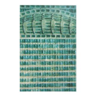 blue teal tiles stationery