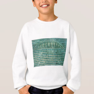 blue teal tiles sweatshirt