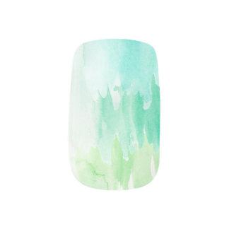 Blue/Teal Watercolor Nail Set Minx Nail Art