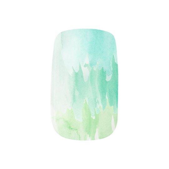 Blue/Teal Watercolor Nail Set Nail Sticker