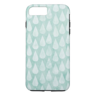Blue/Teal Watercolor Raindrops Pattern iPhone 7 Plus Case