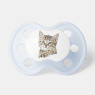Blue Teat Low poly kitten Pacifier