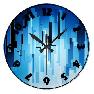 Blue Tech Art Clock