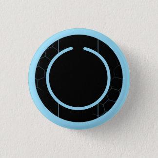 Blue Techno Button