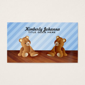 Blue Teddy Bears Business Cards