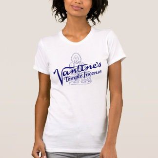 "Blue ""TEMPLE INCENSE"" Womens T-Shirt"