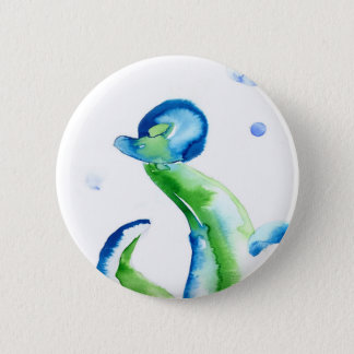 Blue Tentacles 2 Inch Round Button