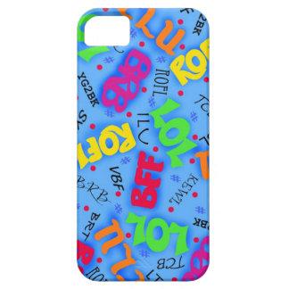 Blue Text Art Symbols Abbreviations Custom Case For The iPhone 5