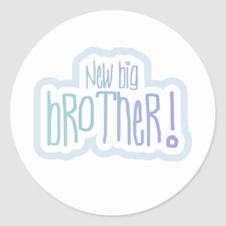 Blue Text New Big Brother Stickers