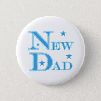 Blue Text New Dad 2 Inch Round Button