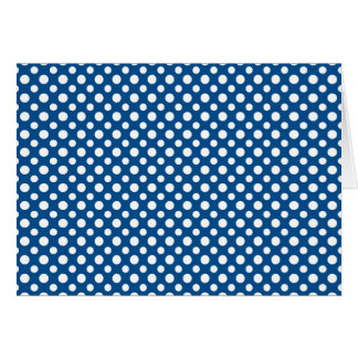 Blue texture and white dots horizontal card
