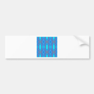 Blue texture bumper sticker