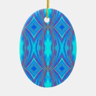 Blue texture ceramic ornament