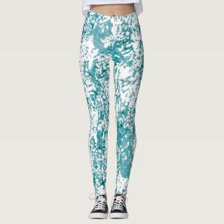 Blue texture chic design. leggings