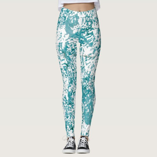 Blue texture chic design. leggings