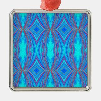 Blue texture metal ornament