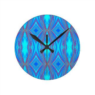 Blue texture round clock