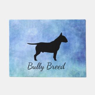 Blue Textured Bullterier Bully Breed Doormat