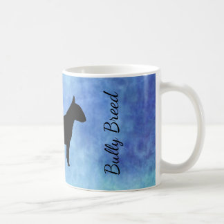 Blue Textured Bullterier Bully Breed Mug