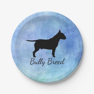 Blue Textured Bullterier Bully Breed Plates