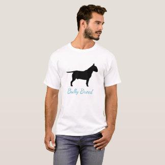 Blue Textured Bullterier Bully Breed T-Shirt