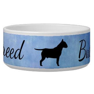 Blue Textured Bullterier Bully Large Pet Bowl