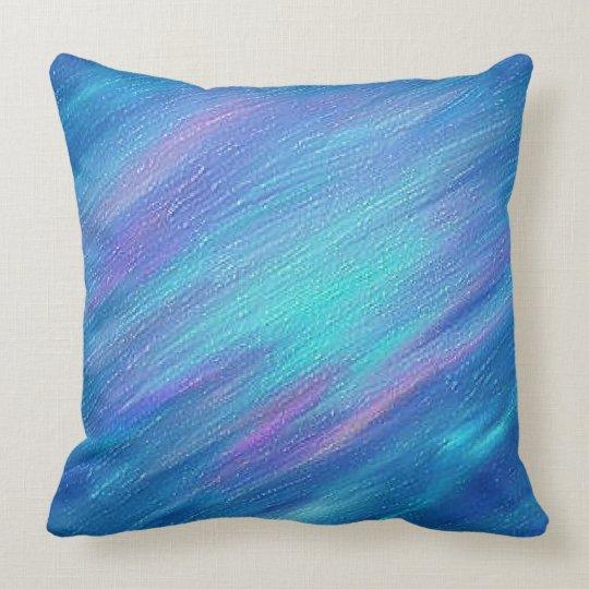 Blue textured effect design throw pillow