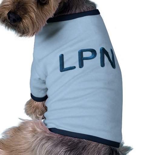 Blue Textured LPN Doggie Tee Shirt