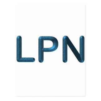 Blue Textured LPN Postcard