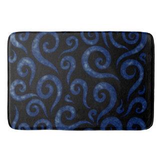 Blue Textured Swirls Bath Mat