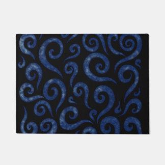 Blue Textured Swirls Doormat